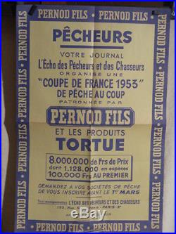 Affiche Ancienne Concours Peche Pernod