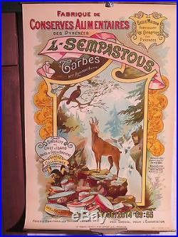 Affiche Ancienne Conserves Pyrenees