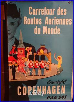 Affiche Ancienne Copenhagen Sas