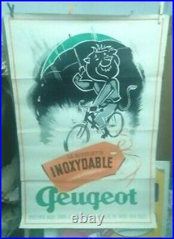Affiche Ancienne Cycle Peugeot Bicyclette