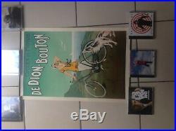 Affiche Ancienne Cycles Et Motos De Dion Bouton C. Fournery 1925 Art Déco