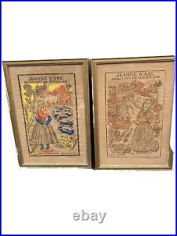 Affiche Ancienne De Jeanne Darc