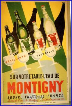 Affiche Ancienne Eau Montigny Ile De France Val D'oise