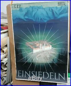 Affiche Ancienne Einsiedeln Suisse Schweiz Switzerland