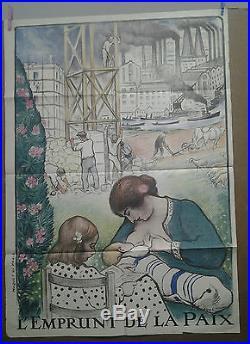 Affiche Ancienne Emprunt De La Paix Lebasque Guerre 1914 -1918