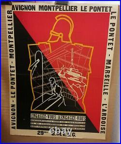Affiche Ancienne Engagez Vous Gendarmerie Avignon Le Pontet 29 Bmeeg
