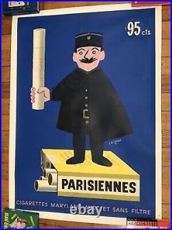 Affiche Ancienne Entoilee Raymond Savignac Parisiennes (1951)