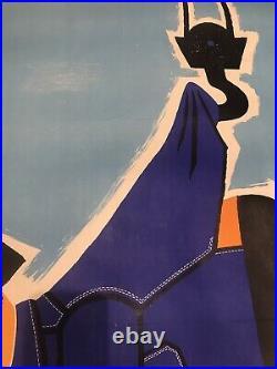 Affiche Ancienne Entoilee Raymond Savignac Resistex (1950s)