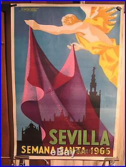 Affiche Ancienne Feria Seville 1965