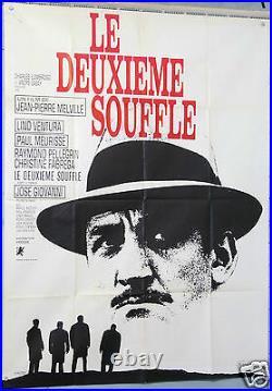Affiche Ancienne Film 1966 Le Deuxieme Souffle Lino Ventura 120x160cm
