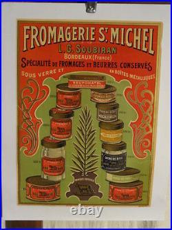 Affiche Ancienne Fromages Bordeaux