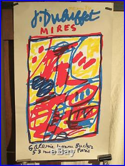 Affiche Ancienne Galerie Jean Dubuffet