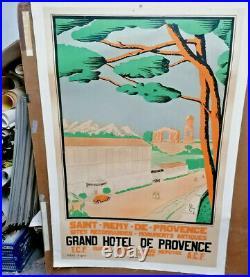 Affiche Ancienne Grand Hotel Saint Remy De Provence Tony