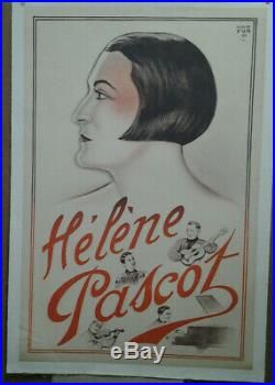 Affiche Ancienne Helene Pascot Harford