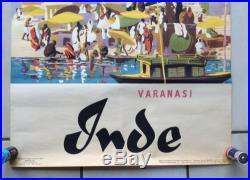 Affiche Ancienne INDE Varanasi 60'S