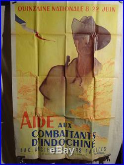 Affiche Ancienne Indochine Militaire