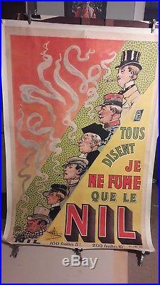 Affiche Ancienne Je Ne Fume Que Le Nil Personnages Abel Guillaume