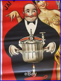 Affiche Ancienne Josephine Baker Auto Thermos Paul Mohr No Lautrec, No Cheret