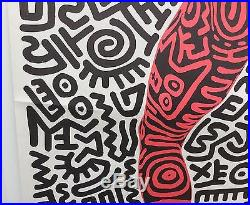 Affiche Ancienne Keith Haring 1984 Tony Shafrazy Gallery New York Vintage Poster