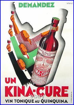 Affiche Ancienne Kina Cure Vin Tonique Au Quinquina CI 1930