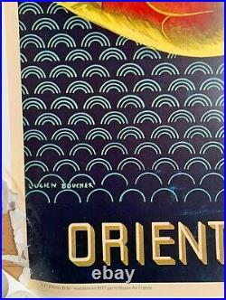 Affiche Ancienne L. BOUCHET RÉÉDITION Originale AIR FRANCE Extreme ORIENT 1977