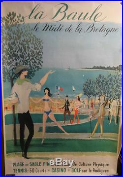 Affiche Ancienne La Baule