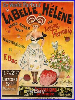 Affiche Ancienne La Belle Hélène Henry Gerbault 1895 Entoilée