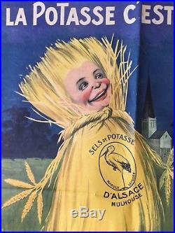 Affiche Ancienne La Potasse D Alsace Cest Ma Santé Auzolle Agriculture Engrais