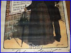 Affiche Ancienne Le Dernier Devoir Emprunt National 1920 Banque De La Seine