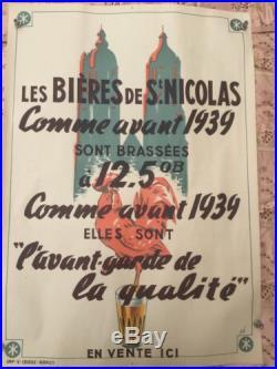 Affiche Ancienne Les Bières De St Nicolas De Port