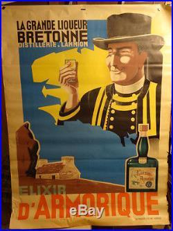 Affiche Ancienne Liqueur Bretagne Armorique