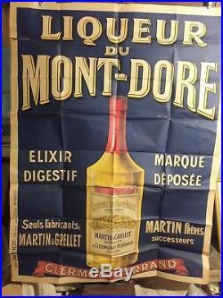 Affiche Ancienne Liqueur Mt Dore Auvergne Bouteille