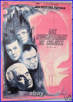 Affiche Ancienne Lithographie Film 1955 Les Indomptable De Colditz