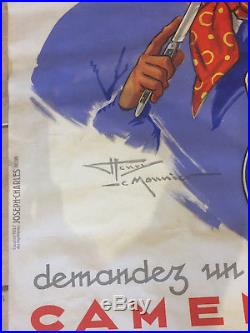 Affiche Ancienne Lithographie Henry Le Monnier Camembert Georges Bisson 1937