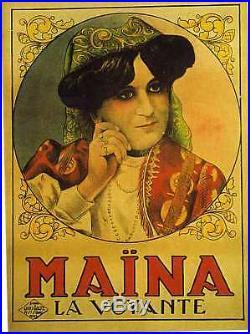 Affiche Ancienne Maina La Voyante Voyance