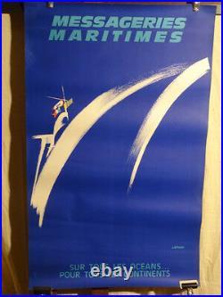 Affiche Ancienne Messageries Maritimes Deco