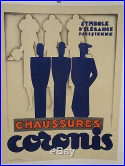 Affiche Ancienne Mode Chaussures Art Deco