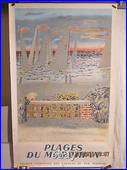 Affiche Ancienne Morbihan Plages