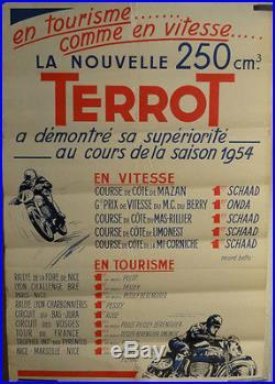 Affiche Ancienne Moto Terrot 250