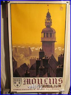 Affiche Ancienne Moulins Allier