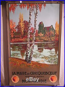 Affiche Ancienne Normandie Cricqueboeuf Mare