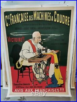 Affiche Ancienne Oge machine à coudre ca 1900 Bismark