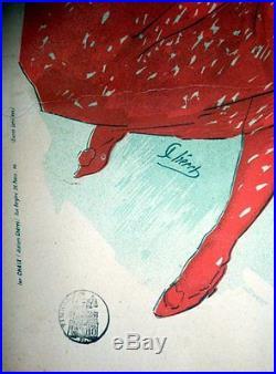 Affiche Ancienne Old Poster Originale 1896 Pastille Giraudel Jules Cheret Sante