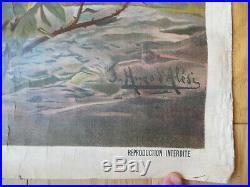 Affiche Ancienne Original LAC LEMAN FREDERIC HUGO D'ALESI 1895