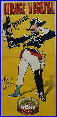 Affiche Ancienne Originale Cirage Vegetal Gendarme Signee Guillaume Usine Lyon