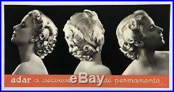 Affiche Ancienne Originale Coiffure Permanente Adar 1930