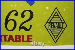 Affiche Ancienne Originale Concession Garage Renault Dauphine 1962 Super Confort