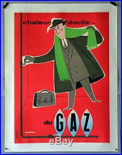 Affiche Ancienne Originale- Gaz Fix Masseau Année 60