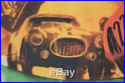 Affiche Ancienne Originale Green Helmet Le Mans Silverstone Sebring Mille Miglia