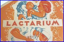 Affiche Ancienne Originale Lactarium Lait Allaitement Puericulture Biberon Sein